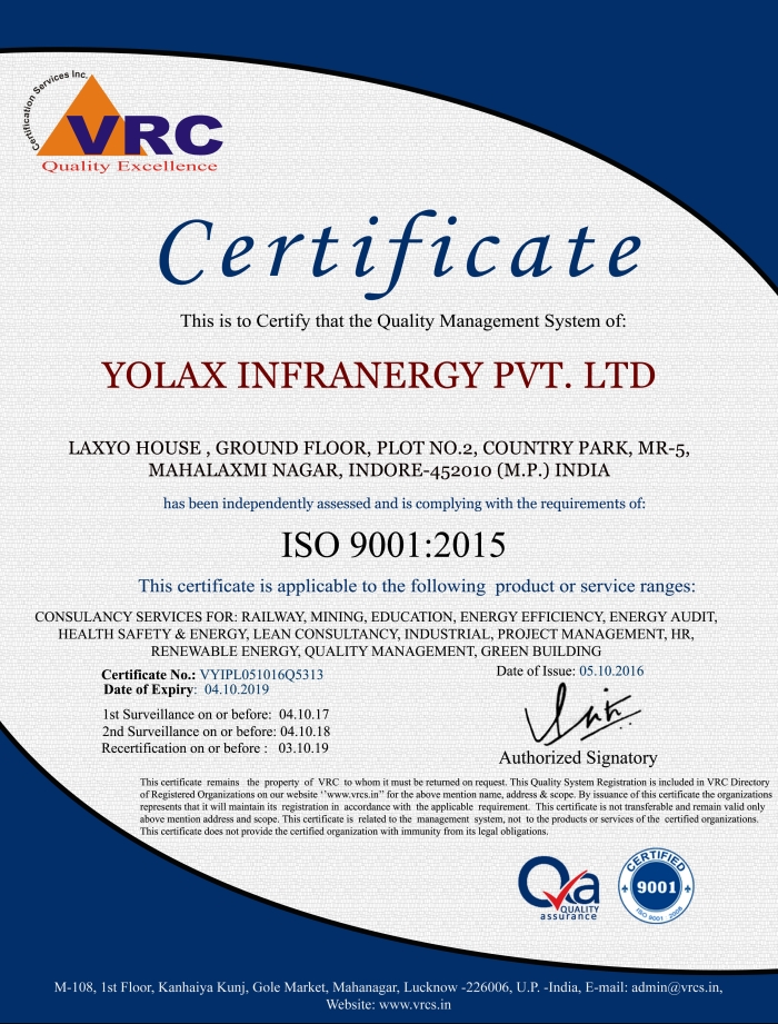 Yolax-Infranergy-iso-certificate